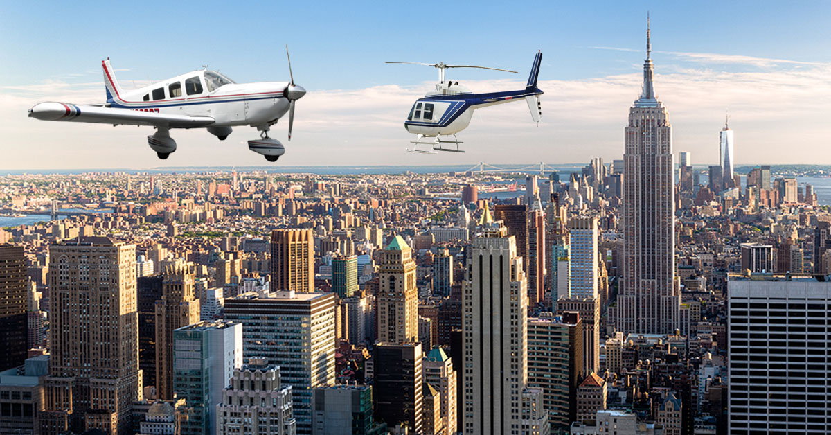 airplane vs helicopter tour nyc
